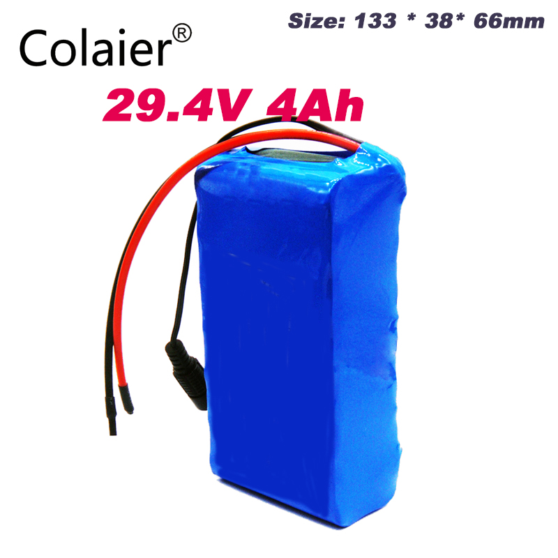 Colaier <font><b>24V</b></font> <font><b>4Ah</b></font> 7S2P 18650 <font><b>Battery</b></font> li-ion <font><b>battery</b></font> 29.4v 4000mah electric bicycle moped /electric image