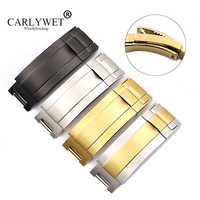 CARLYWET 9mm x 9mm Wholesale 316L Solid Metal Stainless Steel Watch Band Glide Flip Lock Deployment Clasp Buckle For Deepsea