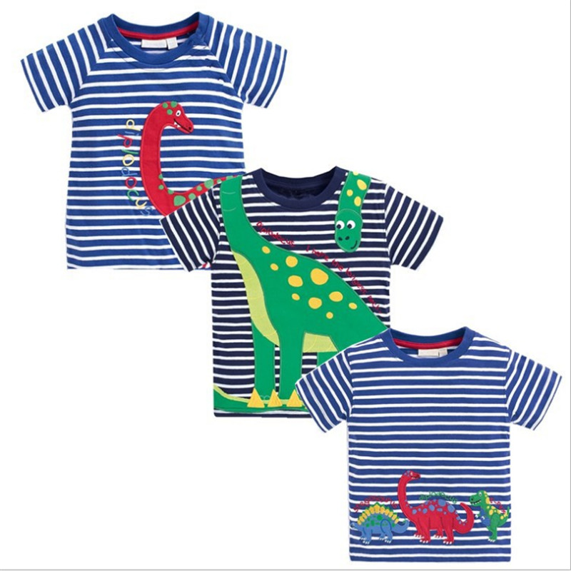 18m-6T Jumping meters embroidery boys summer clothes cotton Kids Clothes Children Boys T shirt jumping meters boys winter clothes children clothing sets animal tops pants 100% cotton 3017 brand kids tracksuit boys outfits