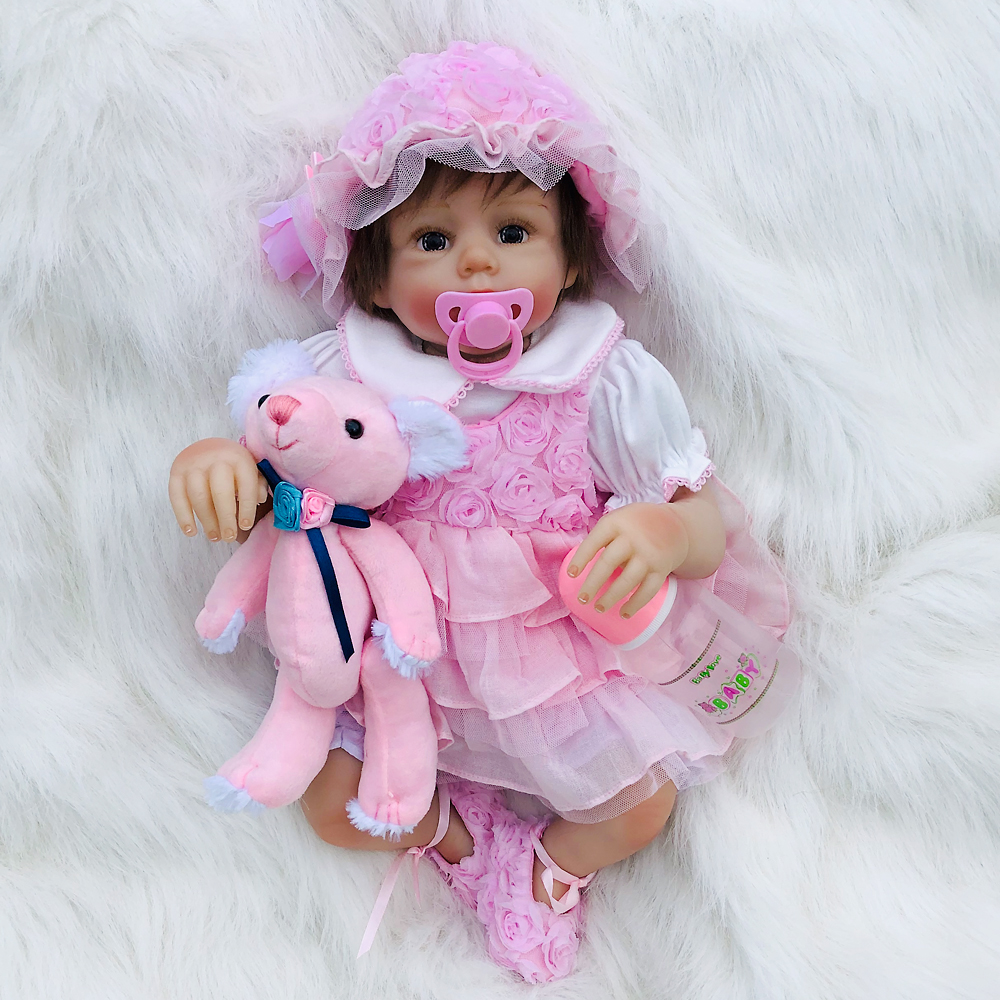 50cm Lifelike Reborn Babies Soft Silicone Baby Dolls lol reborn toddler Newborn reborn Baby Doll For Child Christmas Gift50cm Lifelike Reborn Babies Soft Silicone Baby Dolls lol reborn toddler Newborn reborn Baby Doll For Child Christmas Gift