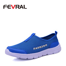 FEVRAL Brand 2020 Fashion Men Summer Mesh Soft Breathable Casual Shoes Comfortable Men High Quality Mesh Sneakers Size 38-46(China)