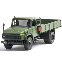 19.5CM 1:36 Scale Toy Car Metal AlloyClassic Millitary Pickup Truck Pull Back Diecasts Vehicles Model Toys For Children Kids
