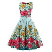 ZAFUL Brand New Women Summer Bee Floral Print Belts Swing Vintage Dress Plus Size S 4XL