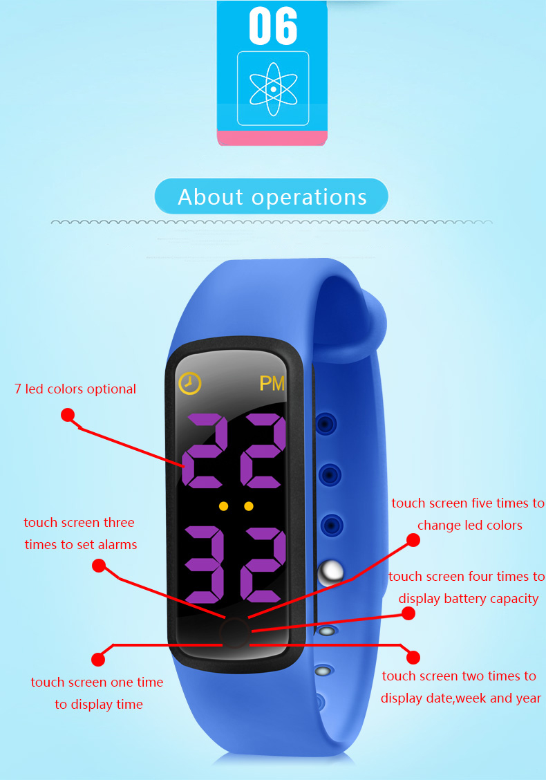 Kits bracelet smart wristband 3 color LED display Sleep Monitor Waterproof Sports Wristband for Smart Band hot