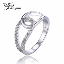 JewelryPalace 925 Sterling Silver Cubic Zirconia Teardrop Band Ring Interweave Style Design Tremendous Jewellery Ladies Marriage ceremony Ring