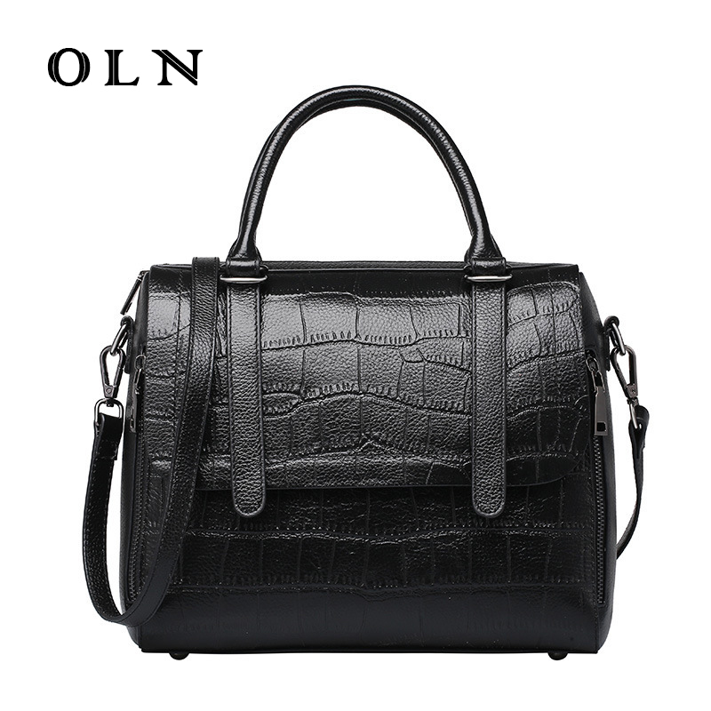 OLN Brand Luxury Women Leather Handbags Fashion Stone Pattern Ladies Messenger Bag with tassel High Quality Shoulder Bags Female oln brand 100