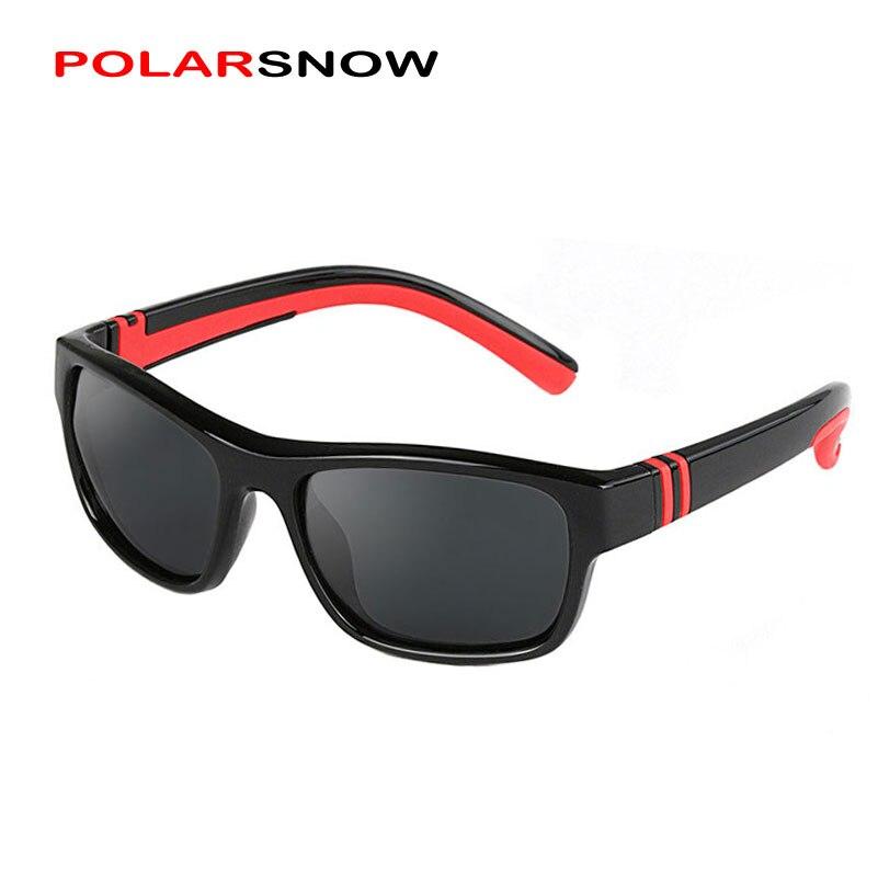 POLARSNOW Kinder Jungen Mädchen Polarisierte Sonnenbrille Unzerbrechlich TR90 Rahmen Kinder Sonnenbrillen Goggle UV400 Brillen