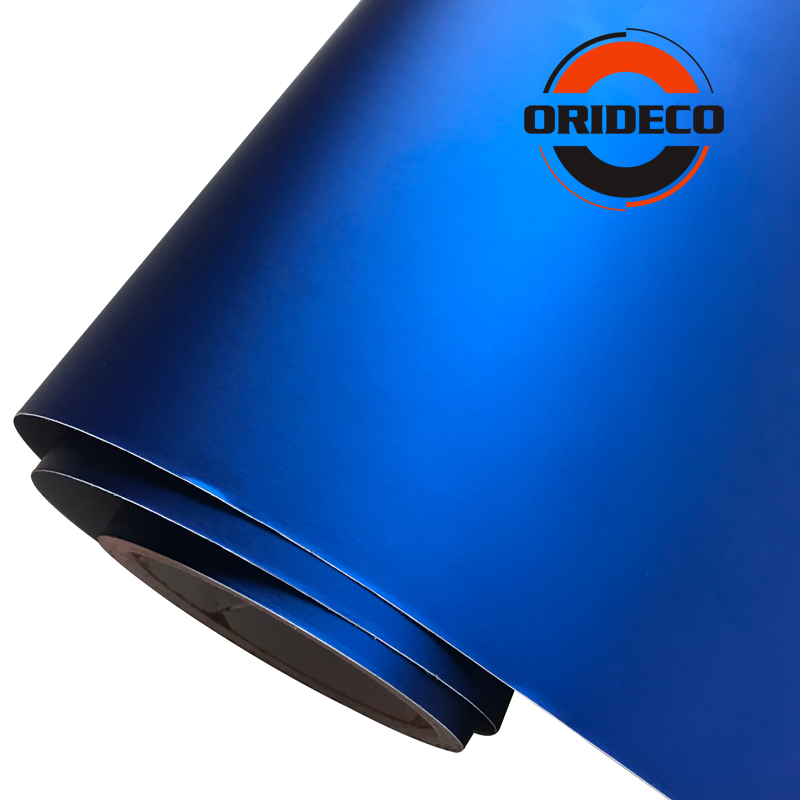 Image 5 - 50CM Width Multi Colors Matte Metallic Car Vinyl Wrap Red Blue Silver Satin Film With Air Channels Metallic Car Film Decoration-in Car Stickers from Automobiles & Motorcycles