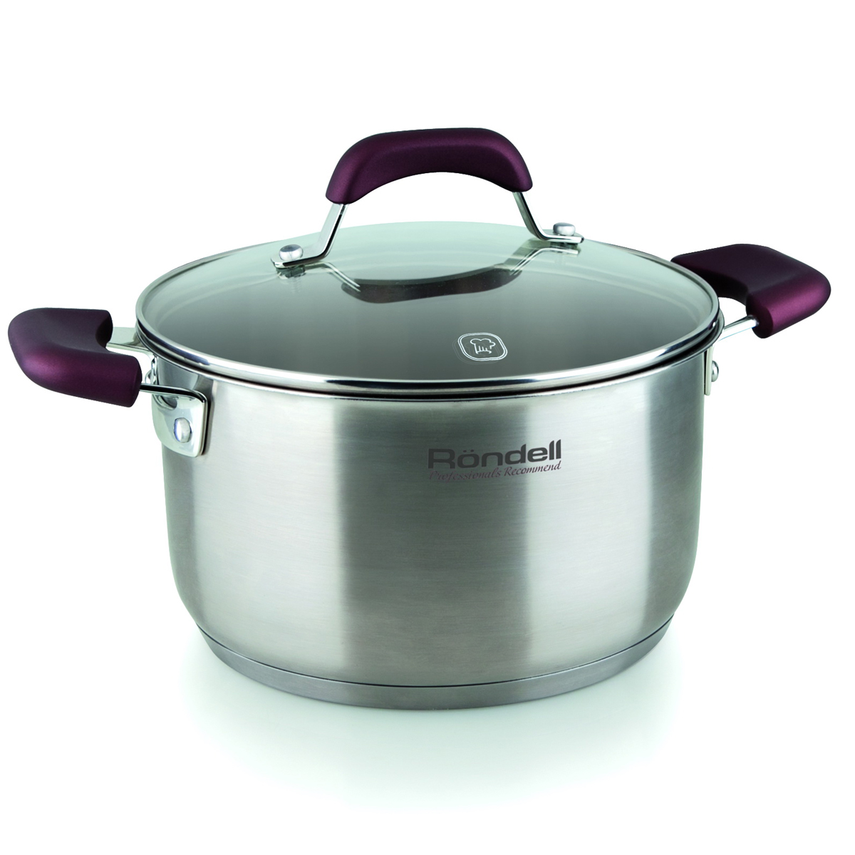 Saucepan with lid RONDELL RDS-736 (Diameter 20 cm, Volume 3.3 L, high quality stainless steel, cover of heat-resistant glass, internal Mark литража, suitable for all kinds of board) heat resistant esprao firme 24 cm