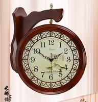 Chinese style antique double faced clock modern fashion Large mute quartz clock and watch fashion clock