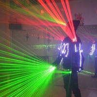 Newest Laser Man Ballroom Costume Clothing Robot Suit Nightclub Bar Party Luminous Light Up Dancing Disco Dj Laserman Clothes