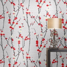 New Chinese Style Plum Wallpaper Living Room Study Teahouse Hotel Bedside Background Wall Paper Roll 6185 top quaity chinese style metallic foil inspired art wallpaper 0 53m 10m roll 3d wallpaper for hotel home decoration