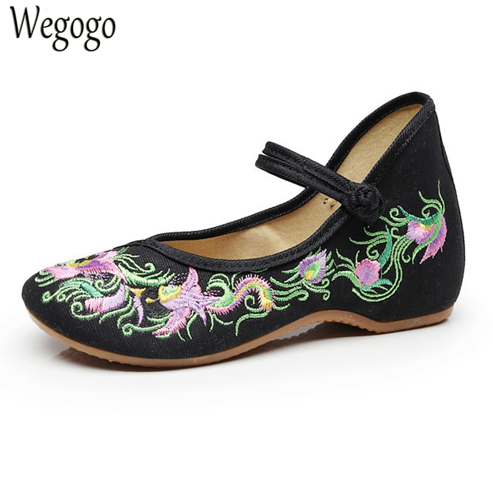 Chinese Women Shoes Flats Birds Floral Embroidery Cotton Comfortable Old Peking Ballerina Shoes Woman Sapato Feminino vintage embroidery women flats chinese floral canvas embroidered shoes national old beijing cloth single dance soft flats