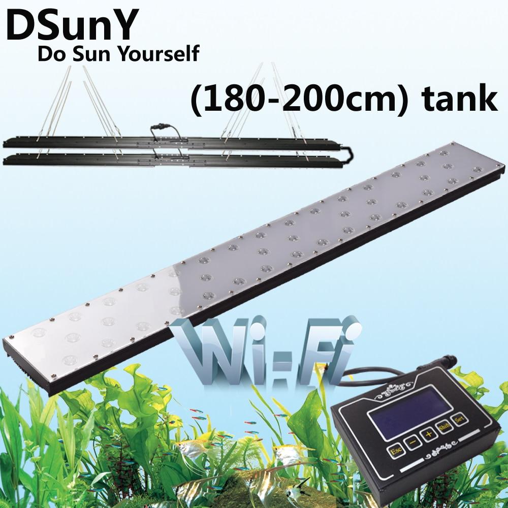Fish tank lights for sale - 4pcs Panel Wifi Version High Lumen Led Light For 180cm 6ft 72inch Freshwater Plant Aquarium Fish