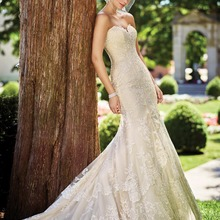 Fnoexw Elegant Champagne Mermaid Wedding dresses Sleeveless
