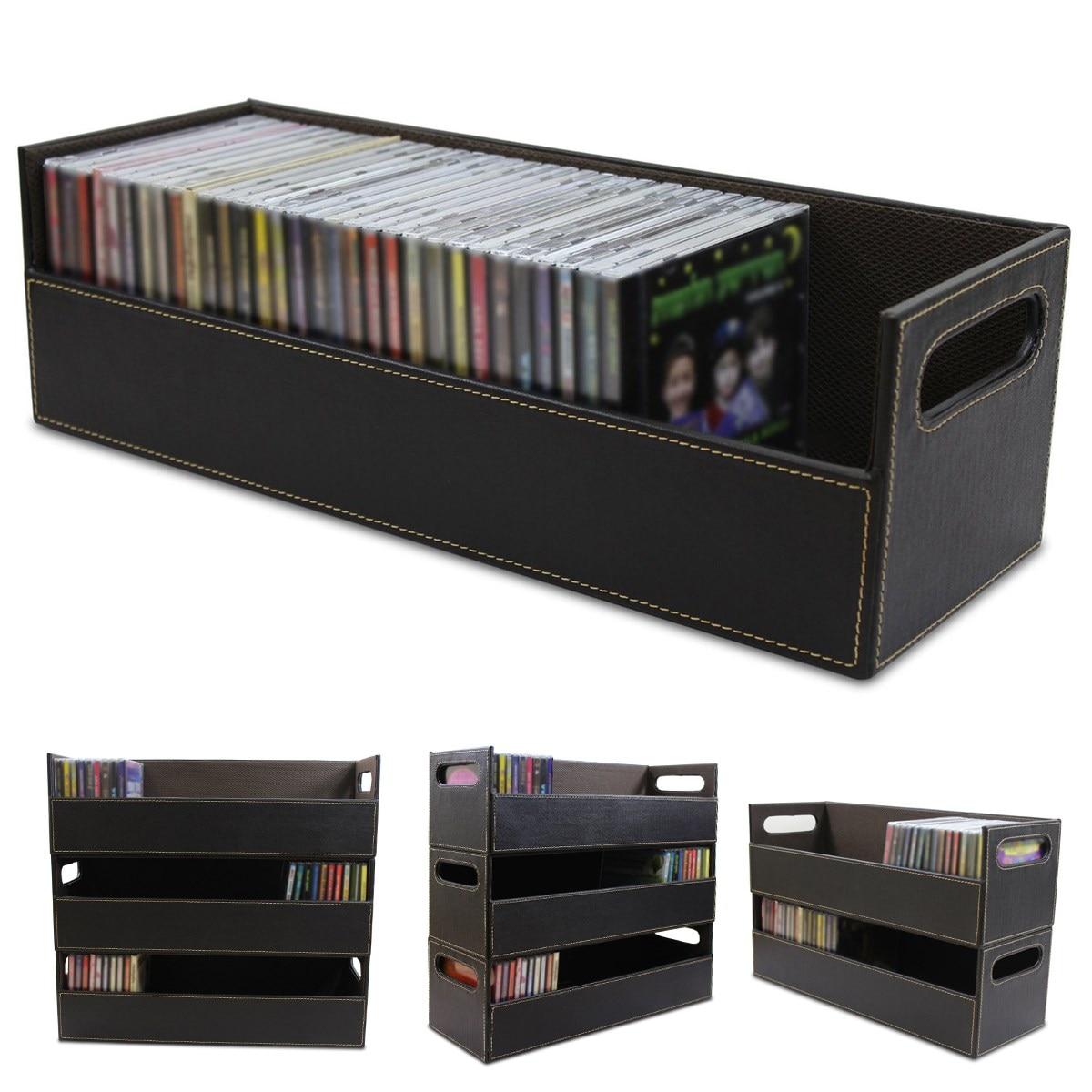 Cuir voyage étanche Portable ligne de données écouteur fil organisateur CD boîte de rangement câbles boîte conteneur