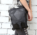 2017 Tendencia Steampunk Paquetes de La Cintura de Las Mujeres/de Los Hombres Del Punk Rock Retro Hoslter Muslo Bolsa Motocicleta Billetera de Cuero de LA PU Bolso Crossbody