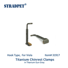 Chinrest-Clamps Viola-Accessories STRADPET Titanium for Gray-Hook-Type In-Gun