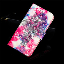 For Samsung galaxy m20 case luxury magnetic card slot leather m10 phone pu painted Flip cover