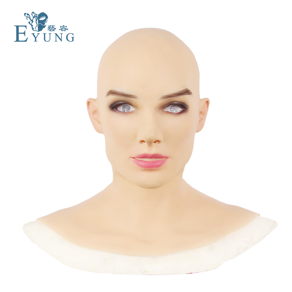 Eyung2019 새로운 여성 마스크 betris 천사 마스크 실리콘 여성 마스크 crossdresser shemale drag queen-에서파티 마스크부터 홈 & 가든 의  그룹 1
