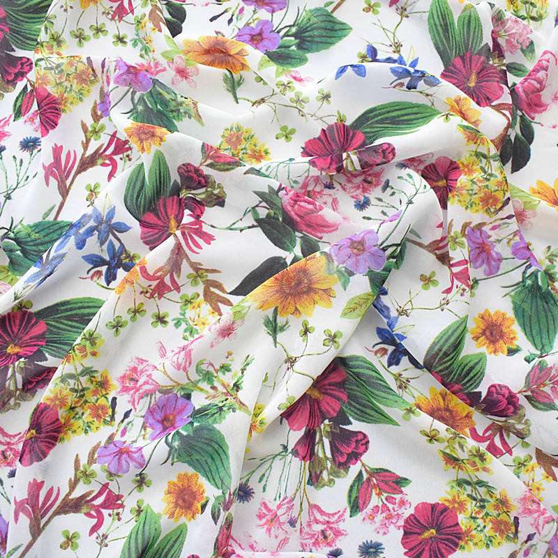 1M leaf print lilac coloured  floral Chinese Brocade  Shanghai fabric 45/""