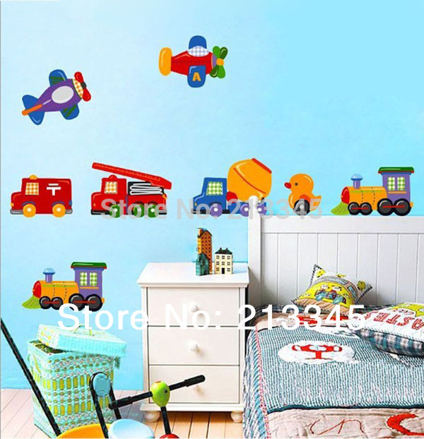 [Fundecor] Diy Wall Stickers Home Decor Cartoon Cars Kids Room Nursery Deco Murals Decals Coche Adesivo Carro
