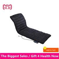 Household foldable Massage Mattress Sleep Beauty Spa Heating Vibrating Head Neck Leg Massager Bed Cushion Massage Therapy Mat