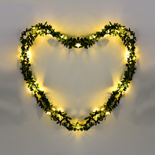 Waterproof 30 LED 3M Olive Leaf Light String Battery LED Garland Lighting String For Outdood Garden