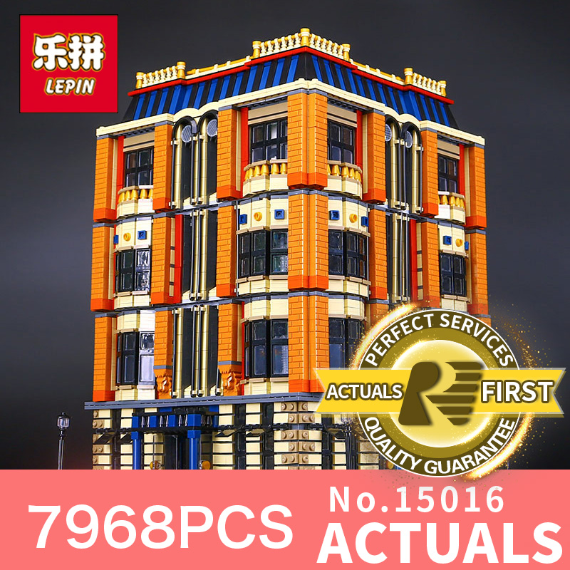 7968Pcs Lepin 15016 Genuine MOC Creative Series The Apple University Set Building Blocks Toys for Children Christmas gift the political university