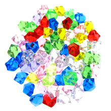 100Pcs Multicolor acrylic diamond table scatters for wedding party decoration crystal gems vase filler confetti