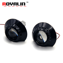 ROYALIN For BMW E46 E36 E90 Bi Xenon Projector Headlight Lens Wagon Sedan Coupe M3 ZKW 2.5″ Auto H1 H4 H7 Adapter Lamp Retrofit