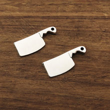 10pcs kitchen knife meat cleaver Charms 23x9mm Tibetan Silver Plated Pendants Antique Jewelry Making DIY Handmade Craft(China)