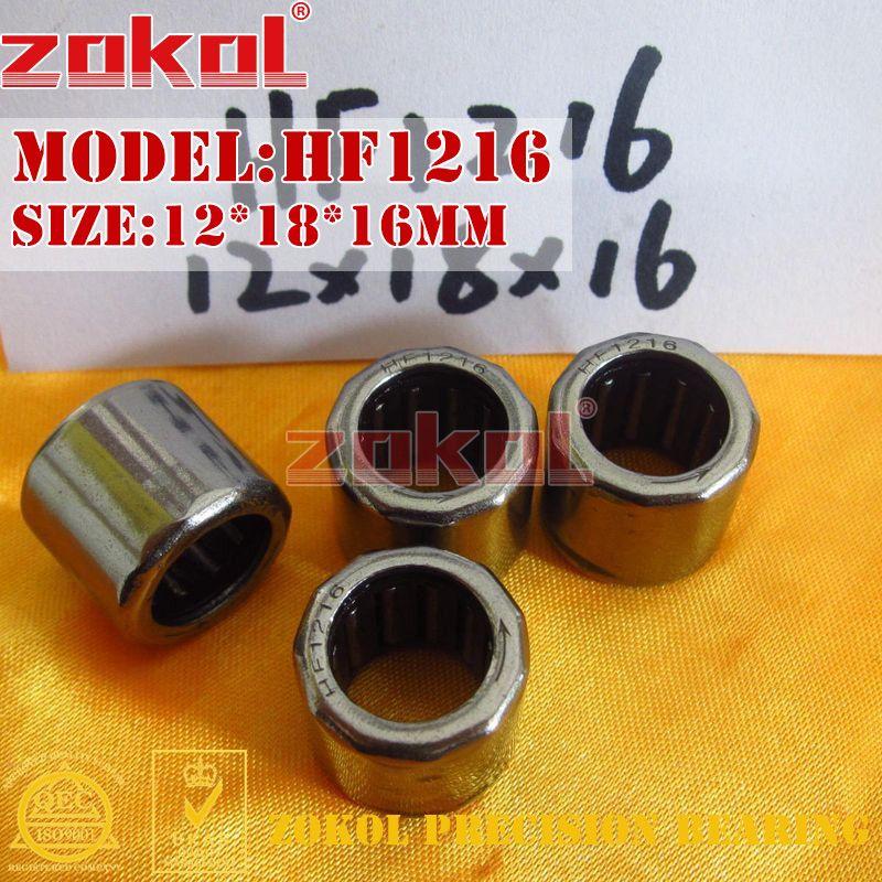 ZOKOL HF1216 HF1416 HF1616 EWC1216 One Way Needle Roller Bearing 12*18*16mm 14*20*16mm 16*22*16mm