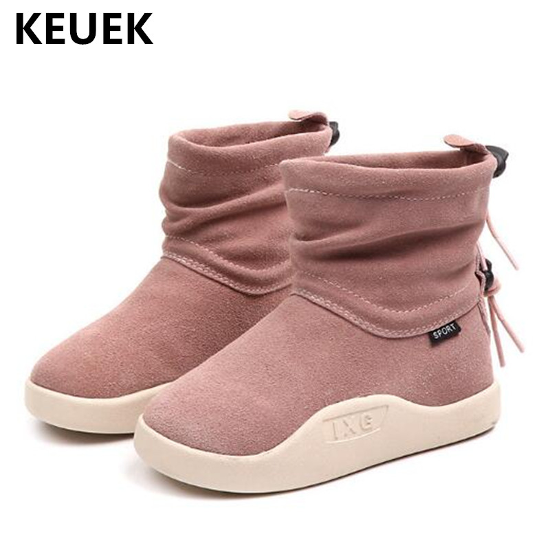 все цены на New Children Shoes Genuine Leather High Boots Autumn Boys Girls Nubuck Leather Casual Student Kids Boots Baby Toddler Shoes 041 онлайн
