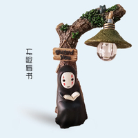 Hayao Miyazaki spirited away no face male LED light without human face animation toys gift doll ornaments