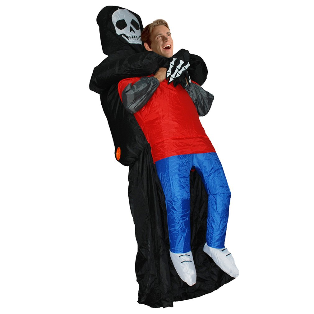 Funny Inflatable Devil Costume Party Cosplay Blowup Costume For Adult/Children Scary Blak Party Cosplay Blowup Costume Kids Toy