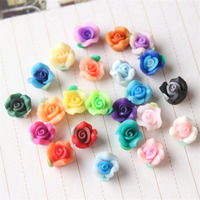 Hot Sale 50Pcs Multicolor Polymer Clay Flower Resin Flatback Petals For Album Hair Headband Jewelry DIY
