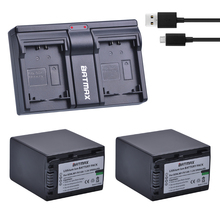 2pcs 3900mAh NP-FV100 FV100 NP FV100 Battery&DualCharger for Sony DCR-DVD103 XR100 for Sony HDR-XR550/E HDR-XR350/E HDR-XR150/E