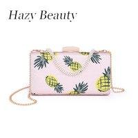 Puslu güzellik çam meyve elma baskılı tasarım kadınlar çanta süper chic lady hafif kızlar akşam çanta takı kısa strapA303