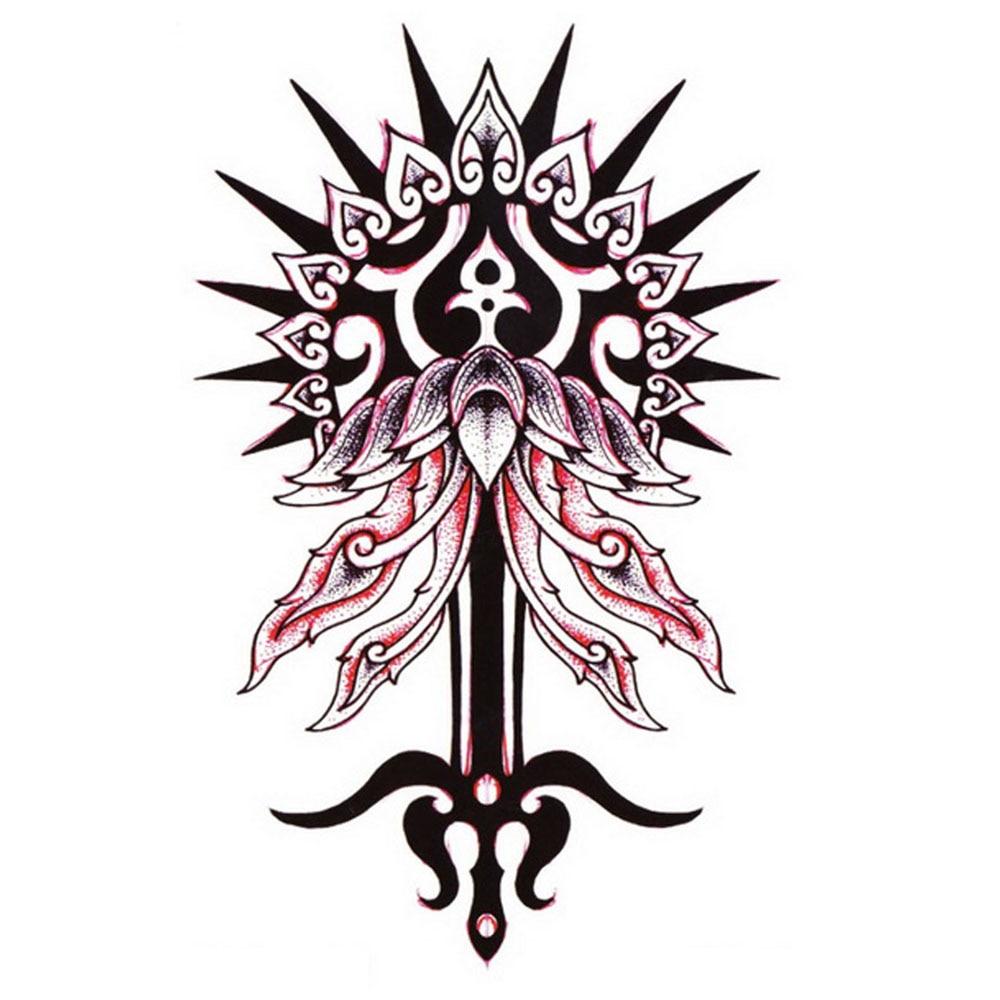 Tribal-Tattoos Yeeech-Temporary-font-b-Tattoos-b-font-Sticker-For-font-b-Men-b-font-Women-Fake