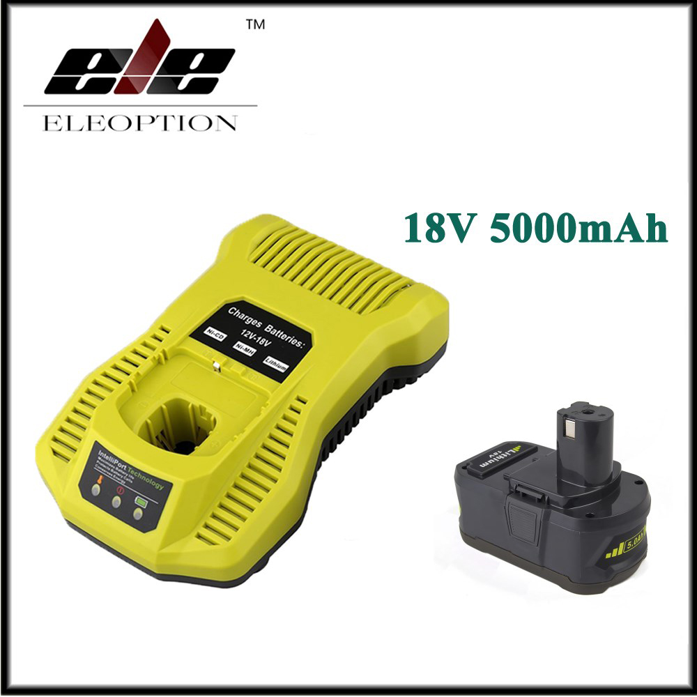 18V 5000mAh Li-Ion Rechargeable Battery For Ryobi P108 RB18L40 P2000 P310 For Ryobi for ONE+ BIW180 With 12-18V Charger лобзик ryobi one r18js 0