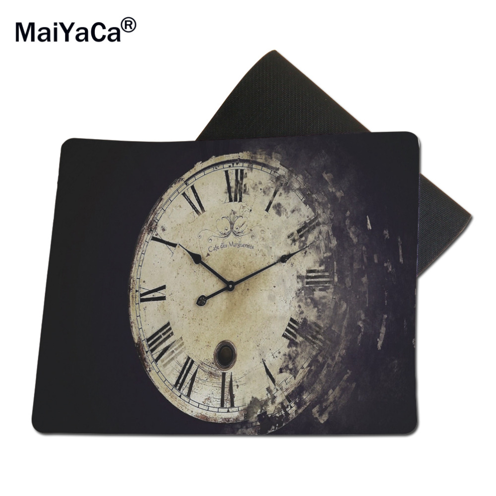 MaiYaCa Time Cover Computer Mouse Pad Mousepads Rubber Pad 18*22cm and 25*29cm
