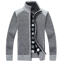 Male Turtleneck Knitwear Sweaters Loose Thickening Men S Sweaters Autumn And Winter Classic Splice Cardigan Wool