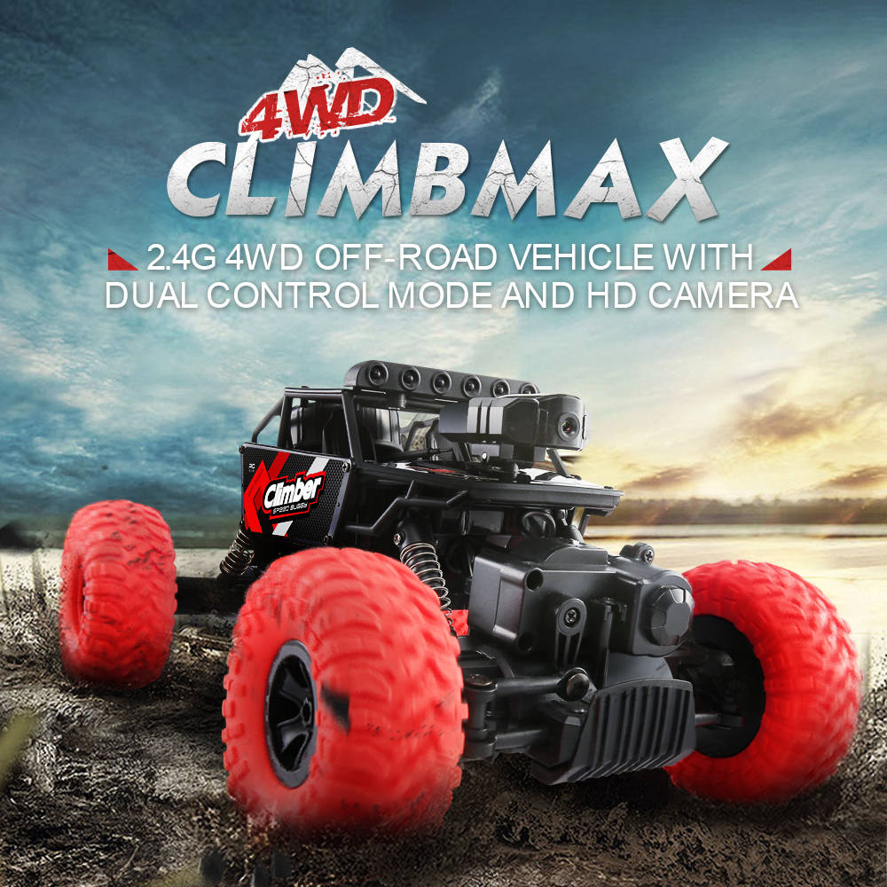 JJRC Q45 1/18 2.4G 4WD 8KM/H Off-Road Vehicle Remote Control Cars RC Car Blue Red W/ Dual Control Mode & Camer VS Wltoys