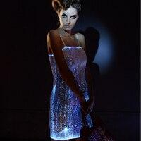 2017 женское светящееся Повседневное платье светодио дный Бандажное платье для девочек Bodycorn vestidos RGB светодио дный LED сексуальное карнавально