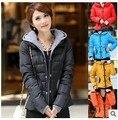 Algodón de la mujer capa de la chaqueta con capucha de down parkas plus tamaño de la flor outwear Jaqueta feminina esportiva casaco jaqueta Feminina
