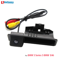 For BMW 3 Series 5 Series BMW E46 Car Parking Rear View Camera Assist CCD With Night Vision Reverse Trunk Handle Backup Camera