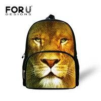 Trendy 12 inch Dzieci Plecak Fajne Drukowanie Zwierząt Lew Lampart Tygrys Głowy Torby Plecak dla Małych Dzieci Mini Dziecko Przedszkole Dla Dzieci