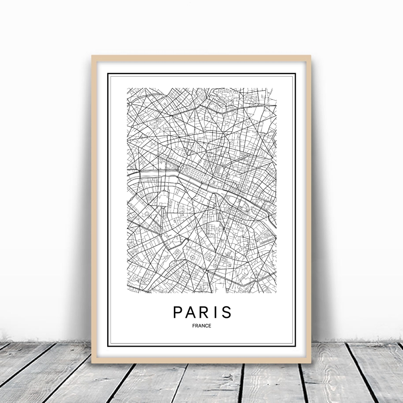 World cities map canvas pairs london new york city map canvas painting poster sydney rome gumiabroncs Images