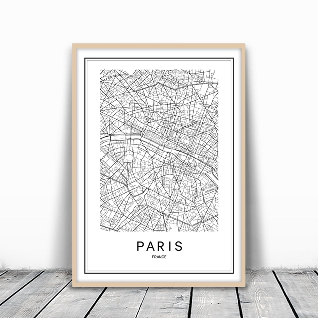 Pairs london new york city map canvas painting poster sydney rome pairs london new york city map canvas painting poster sydney rome austin modern world city gumiabroncs Images